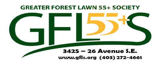 Greater Forest Lawn 55+ Society Logo